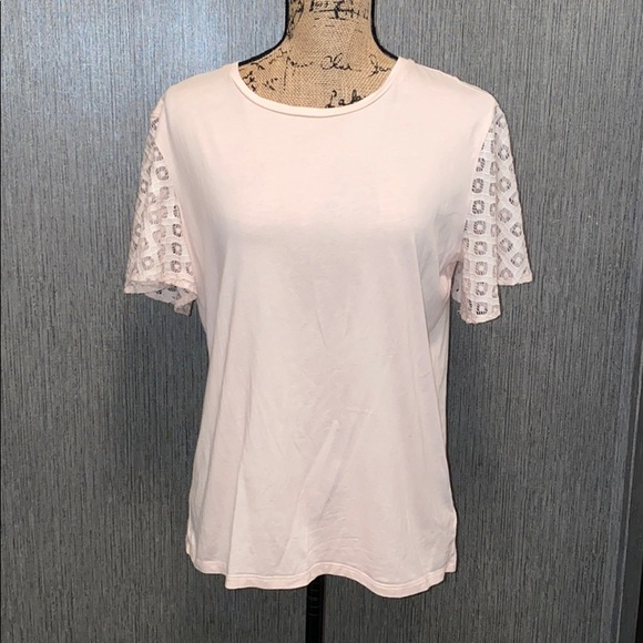 Maette Lace Short Sleeve Tee Size M